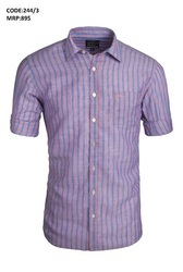 Parallel Pattern Line Mens Shirts