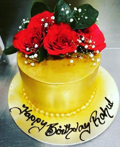 Groovy Joy Delight 1 Kg Gold Birthday Cake Rs 2500 Kilogram Joy Personalised Birthday Cards Epsylily Jamesorg