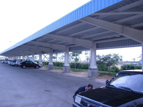 Covered Car Parking Shed At Rs 350 Square Feet Parking Shed Id