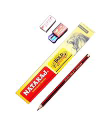 Nataraj Bold Pencil (10 Pencil 1 Eraser Sharpener)