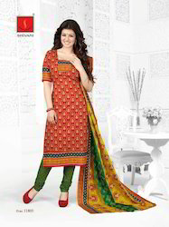 Cotton Printed Salwar Suit Dress Material