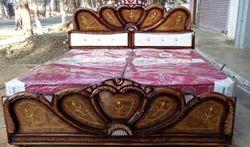 Fancy Teak Wood Wooden Double Bed