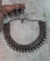 Fancy Silver kolhapuri neklace