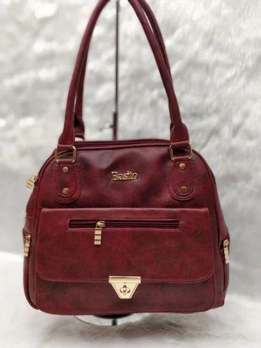 7c3ef562bcd3 Maroon Synthetic Basito Handbag