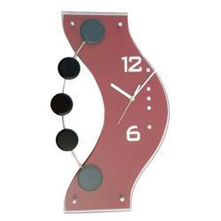 Red And Black Wooden Decorative Clock