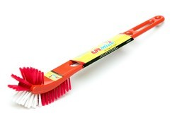 Reprocessed Plastic Pet Red Double Hockey Toilet Brush