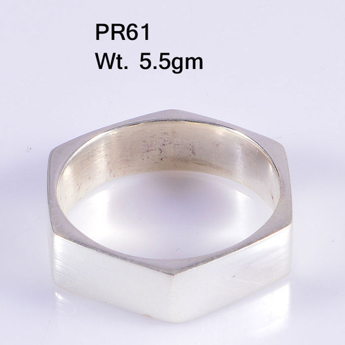 Nut Bolt Style Plain 925 Sterling Silver Ring At Rs 350 Piece