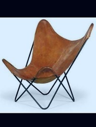 Butter Fly Chair With Leather Sheet