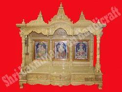 Savan Wood Fully Carved Open Temple