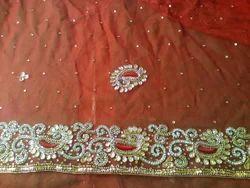 Pure Chiffon Party Wear Chiffon Zari Saree, With Blouse Piece