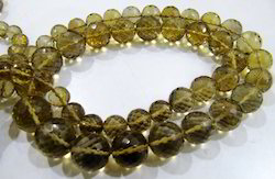 Natural Beer Quartz Beads Round shape