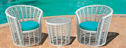 Net Style Outdoor Wicker Coffee Set