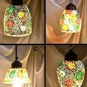 Small Size Mosaic Work Hanging Lamp