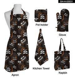 Halloween Printed Kitchen  Apron Set