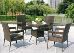Bold Rattan Style Wicker Outdoor Coffee Set