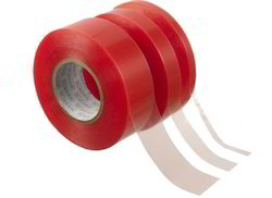 Double Side Red Linear Polyester Tape