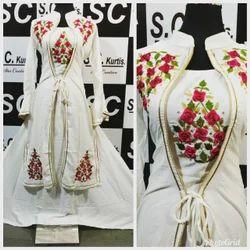 White Western Wear Kurti Dress, 20