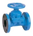 Ci Diaphragm Valve Ebonite Rubber Pn 16 Flanged - Dn 25