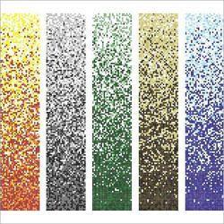 Gradation Pattern Glass Mosaic Tiles