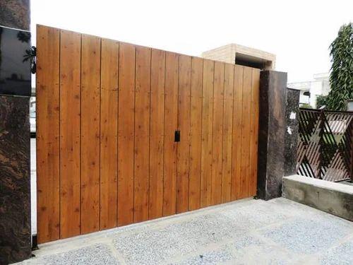 Wood Exterior Gate