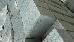 1286 Khyati brick Solid Concrete Block, Size (inches): 12in8in6in