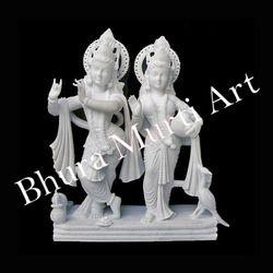 White Marble Radha Krishna Statue