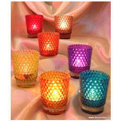 Dotted Color Candle Votive