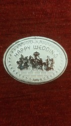 Rubycollections Wedding Personalized Silver Coin 10gms