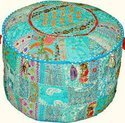 Indian Traditional Home Decorative Ottoman Pouf Cover