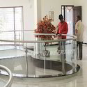 Office Metal Railing With Glasses