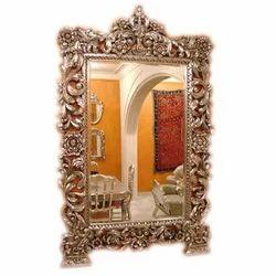 Silver Inlaid Mirror Frame