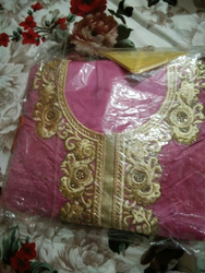 Pink Color Embroidered Suit