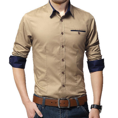 96bab2abc1b6 Cotton Plain Mens Casual Shirts