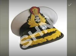 Zari Navy Peak Cap