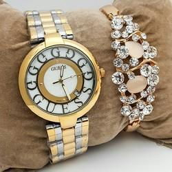Mix brand Branded Ladies Whatch With Bracelet
