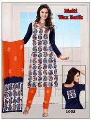 Cotton Wax Batik Print Dress Material