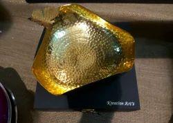 Triangular Brass Bowl