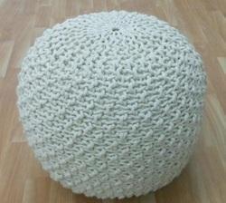 Crochet Pouf Ottoman Hand Crochet Knitted Poufs