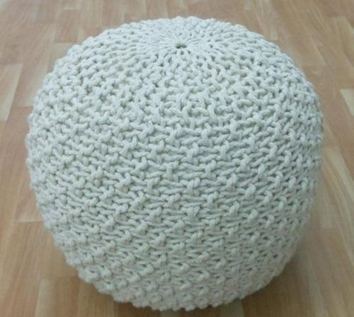 Crochet Pouf Ottoman Hand Crochet Knitted Poufs At Rs 40 Piece Extraordinary Knitted Poufs Ottomans