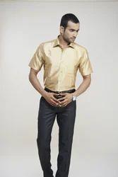 Light Golden Silk Shirts