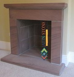 Fire Place in Chocolate Sandstone