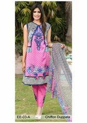 Printed Chiffon Dupatta Suit