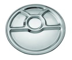5 Compartment Round Plate