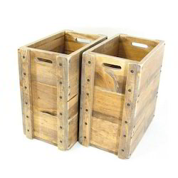 Brown Wood Wooden Boxes For Warehouses