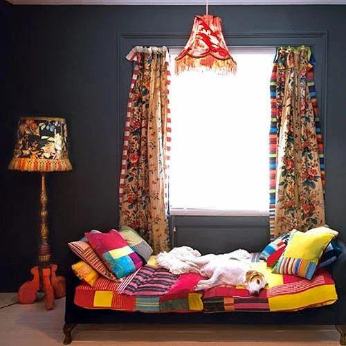 Colorful Ethnic Interior Design in Mayur Vihar Delhi Raj