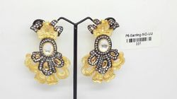 Nikita Plus Golden Fashion Earring