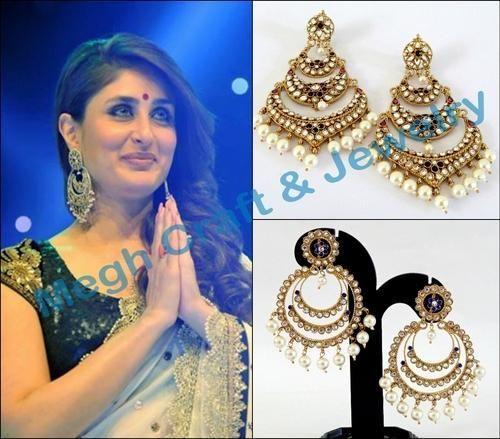 Bollywood Style Kundan Chandelier Earring