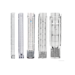 Stainless Steel Submersible Pumps, Flow range up to 78 meter cube/hour
