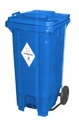 Plastic Waste Bin with Foot Pedal & Wheel
