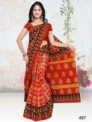Ladies Cotton Printed Saree, 5.50 meter, Without Blouse Piece